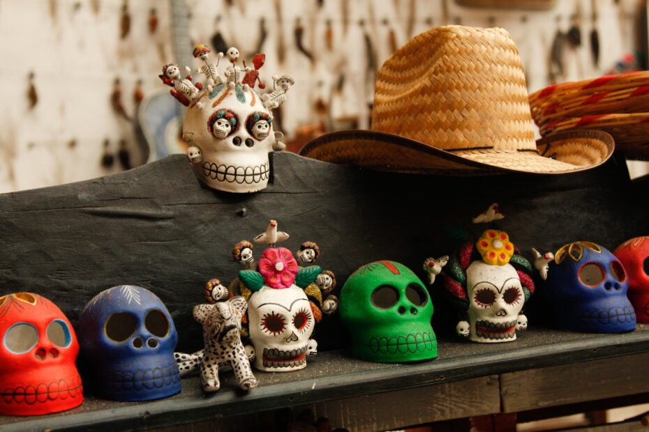 skull ceramic figurine collection
